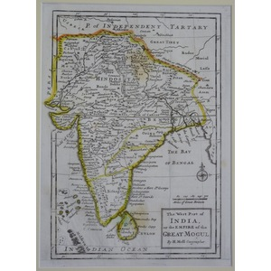 The west part of india or the empire of the gret mogul - moll, 1712