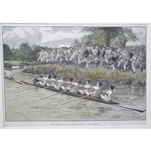 The summer eight oar races at oxford
