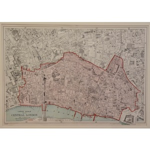 Large scale map of central london