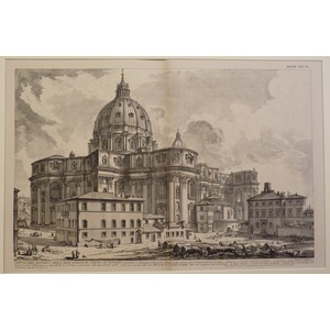 Giovanni Battista Piranesi ; Outside view of the great basilica of st peters in the vatican