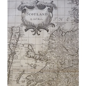 Scotland - Original antique map by Robert Morden, published 1695
