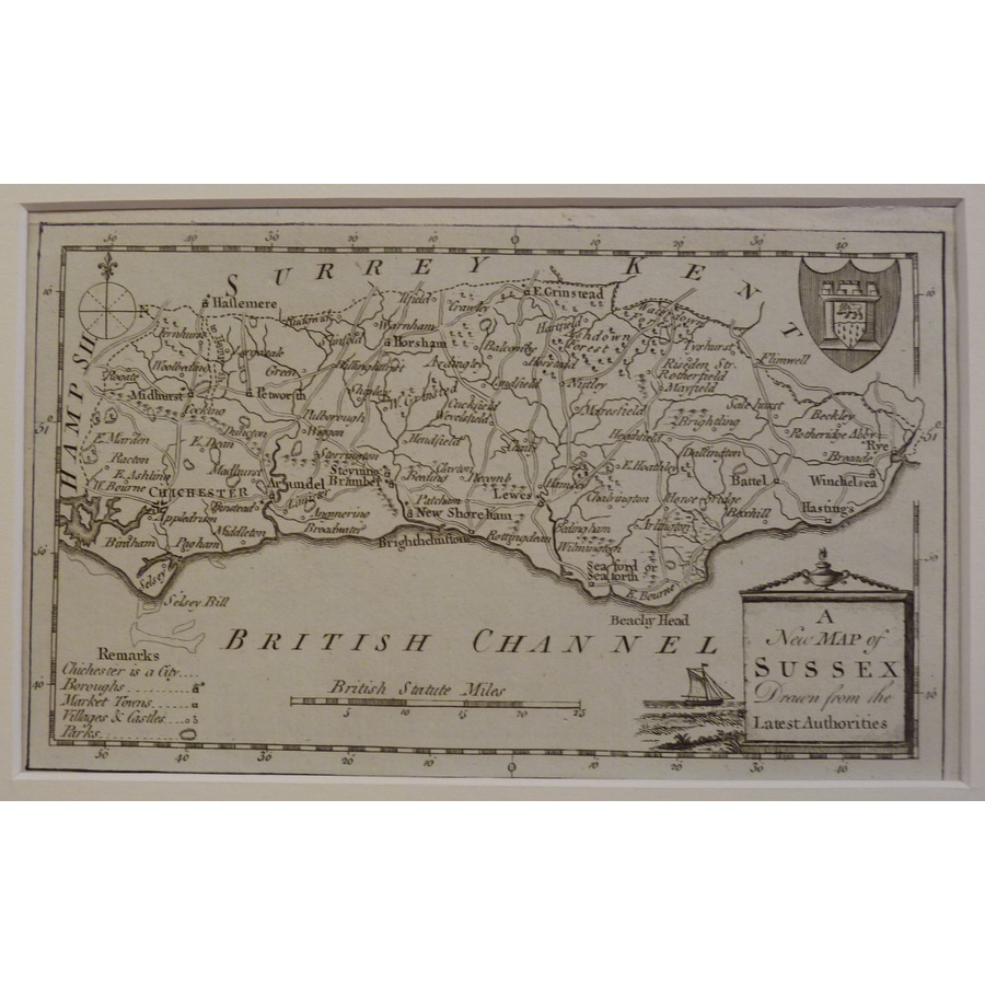 A new map of sussex | Storey's