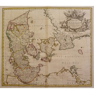 A new map of the kingdom of denmark - j. Senex, 1721