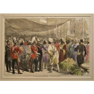 The reception of the prince of wales at calcutta