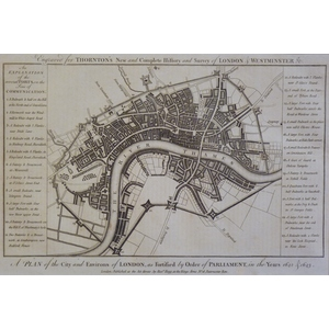 A Plan of the City and Environs of London as Fortified by Order of Parliament in the Years 1642 &...