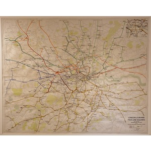 London and suburbs, mainline railways  quad-royal poster