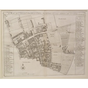 A map of st. Giles criplegate without