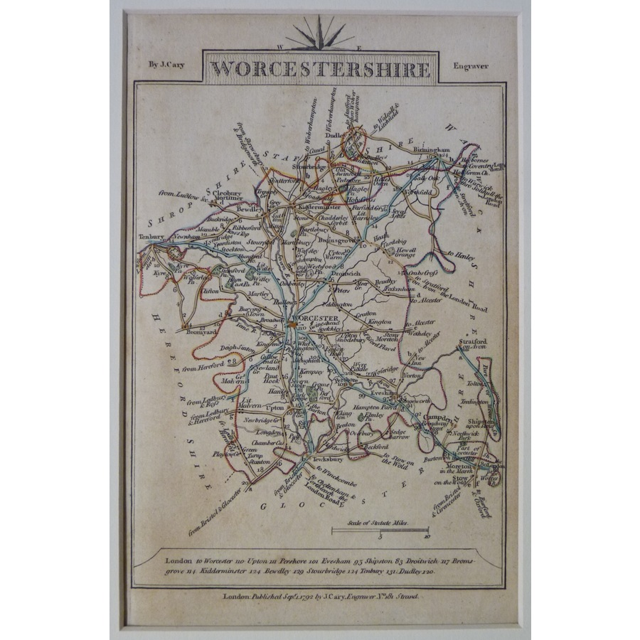 Worcestershire - cary, 1792 | Storey's