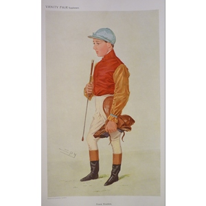 Jockey;  Frank Wootton ; Original antique lithograph, published for Vanity fair, 1896