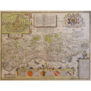 Sussex by John Speed - Original antique map published 1665