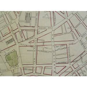 Part of westminster at large showing the improvements proposed about leicester-fields, covent-gar...