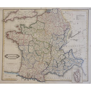 France in Departments - W. Lizars, 1833