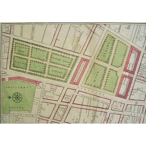 Part of london showing the improvements proposed about the mansion house, royal-exchange, moor-fi...