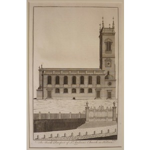 The north prospect of st andrews church in holborn (uncoloured)