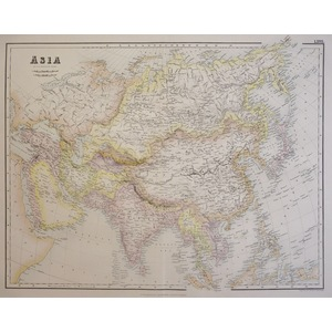 Asia - Original antique map by G.H. Swanston. Lithograph with original colour. Published by Fulla...
