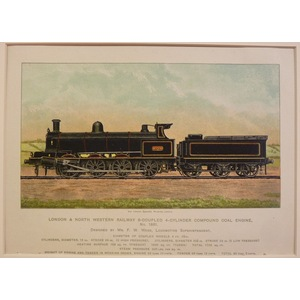 London and north western railway 8-coupled 4-cylinder compound coal engine no 1881