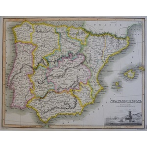 Spain and Portugal - J. Wyld, 1827