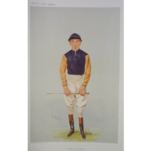 Jockey;  Top Of The List ; Original antique lithograph, published for Vanity fair, 1906