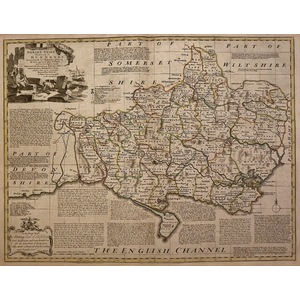 An accurate map of dorsetshire - bowen, 1780