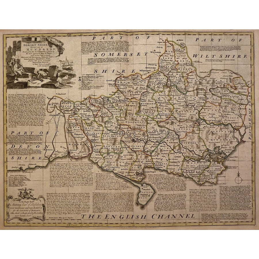 An accurate map of dorsetshir. | Storey's