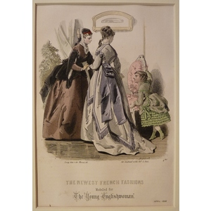 The newest french fashions - plate 4, april 1867