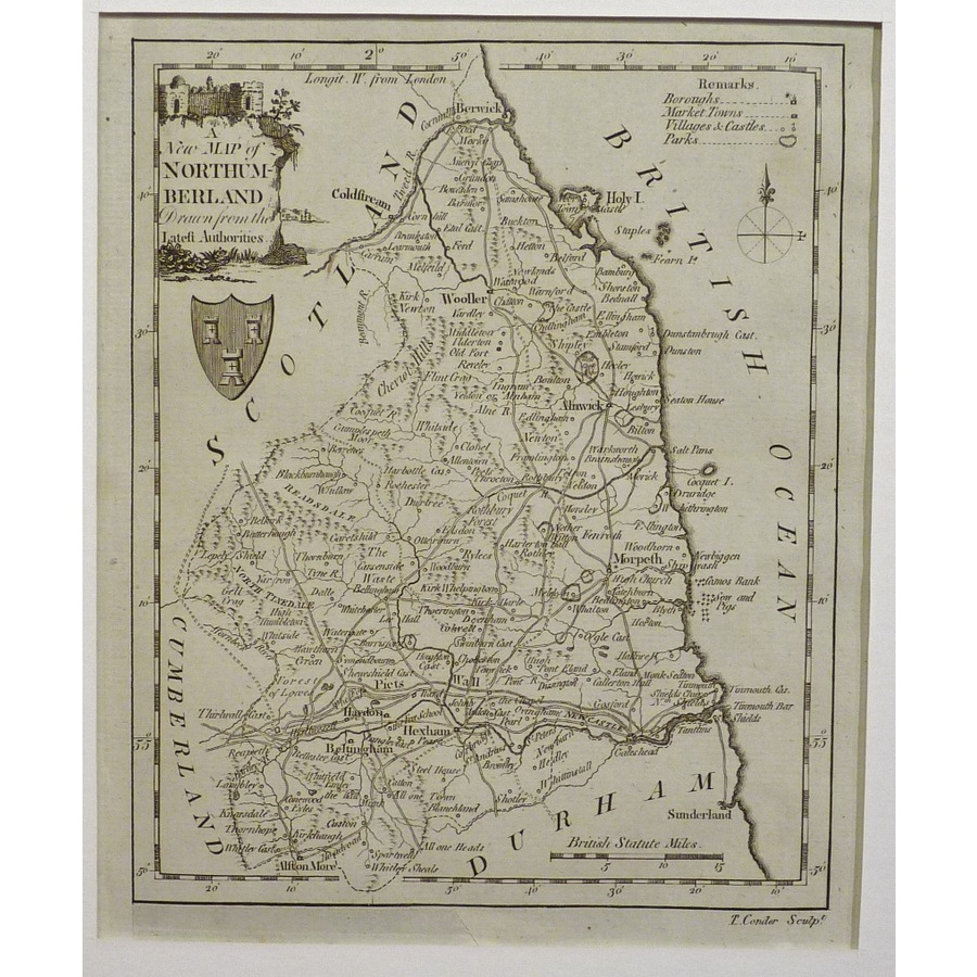 A new map of northumberland | Storey's