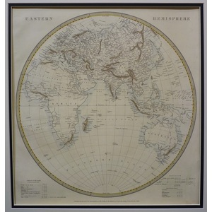 The world - eastern & western hemispheres - sduk, 1848 (set of 2)