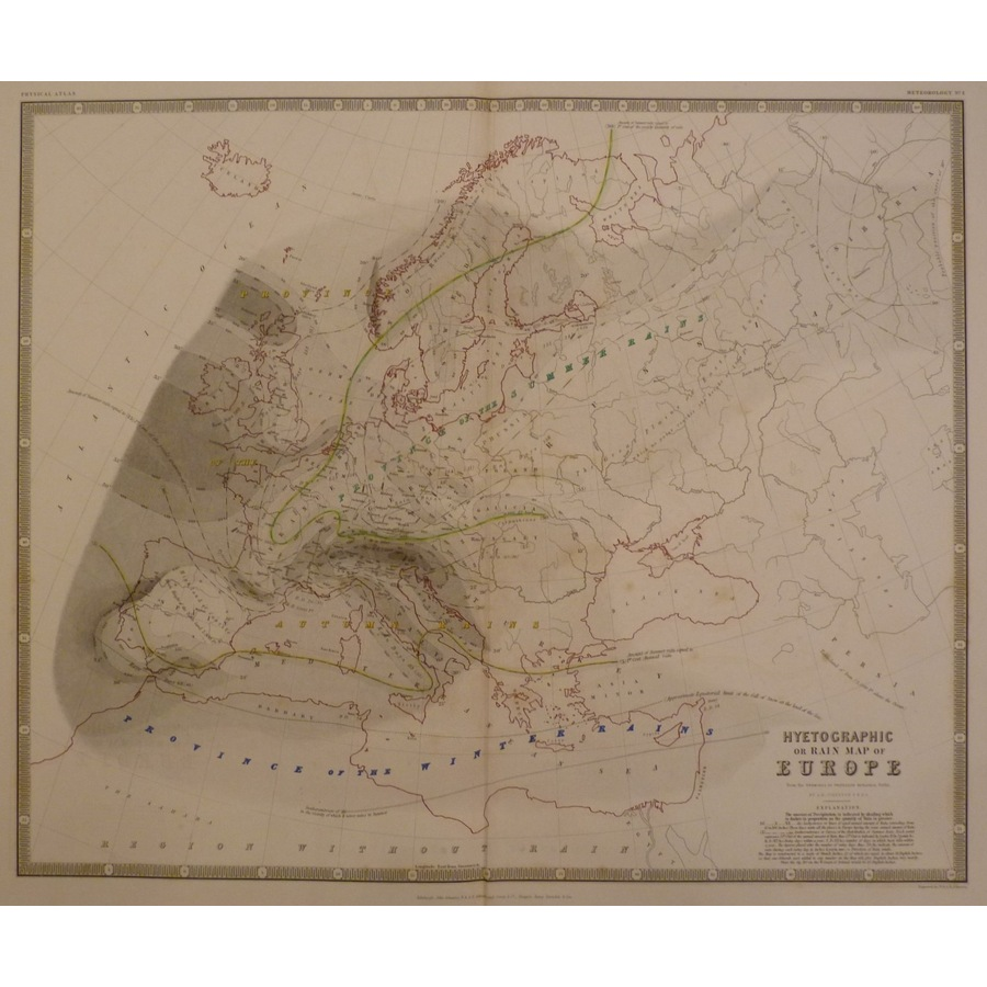 Hyetographic or rain map of e. | Storey's