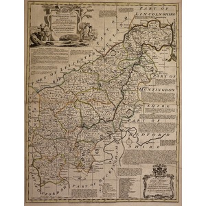 An accurate map of the county of northamptonshire - bowen, 1780