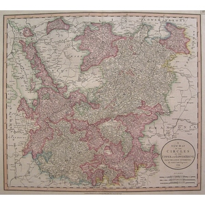 A new map of the circles of the upper and lower rhine - cary 1806