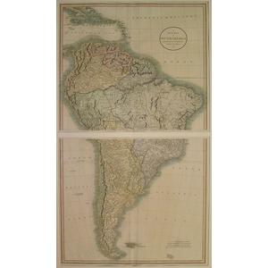 A new map of south america - cary 1806