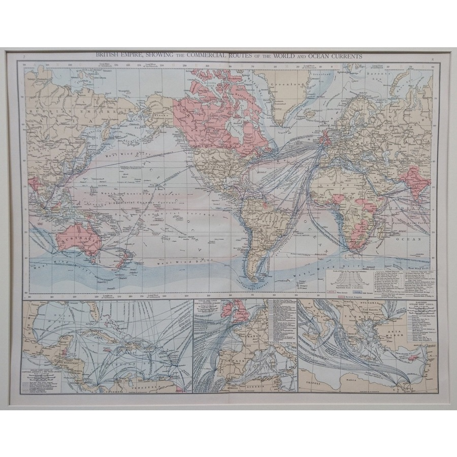 The british empire, showing t.   Storey's