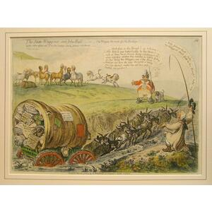 The state waggoner and john bull - or - the wagon too much for the donkeys
