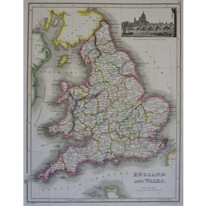 England and Wales - J. Wyld, 1827