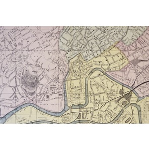 Bristol - Original antique map. Published by G.W. Bacon, 1881 for the