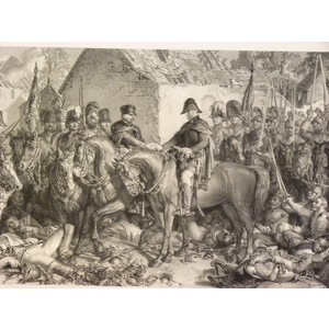 Wellington and blucher meeting after the battle of waterloo