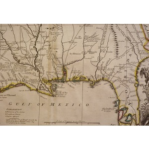 A map of louisiana and the river mississipi by john senex