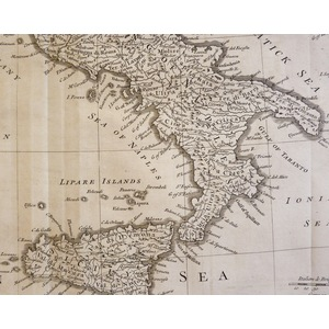 A Map of Italy with its Kingdoms, States &c. from the Latest Observations - Original antique copp...