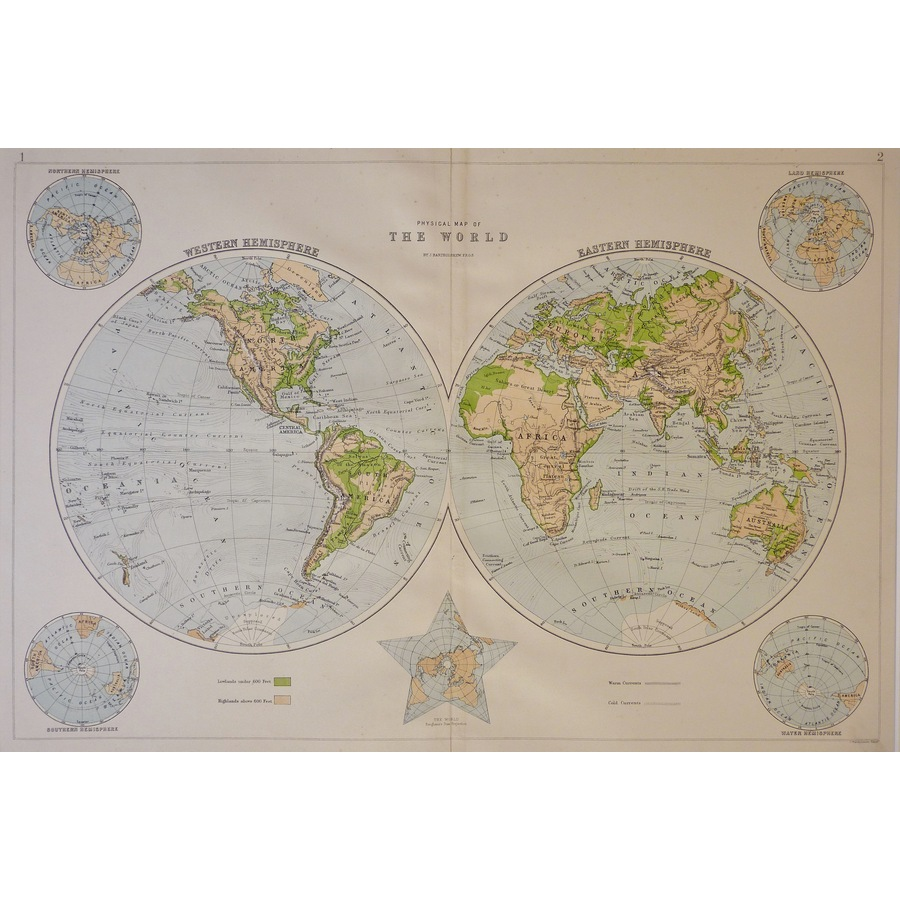 Physical Map of the World by . | Storey's