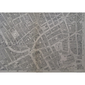 Central london with oxford street & regents street - edition of 1934