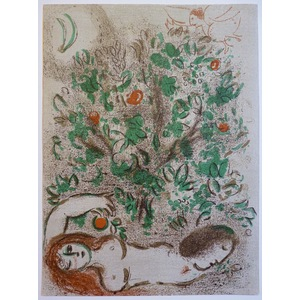 Chagall, Marc - Paradis The Tree of Life. Bible Series Original Lithograph published by Mourlot, ...