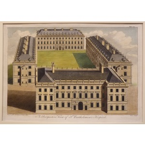 A perspective view of st bartholomews hospital