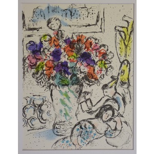 Les anemones - chagall