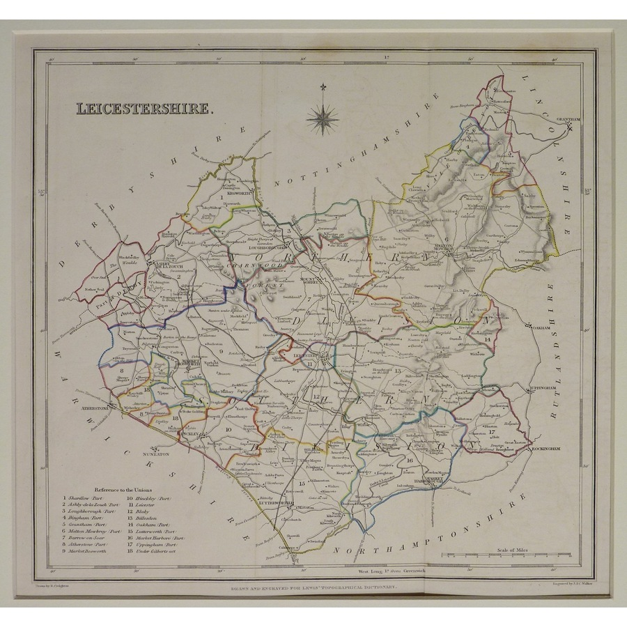 Leicestershire - lewis, 1848 | Storey's
