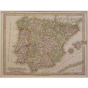 Spain and portugal - c. Smith, 1826