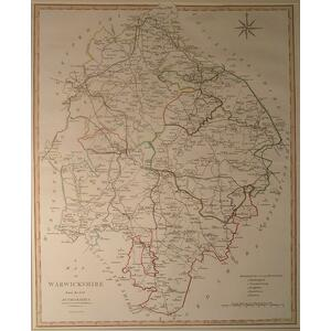 A map of warwickshire