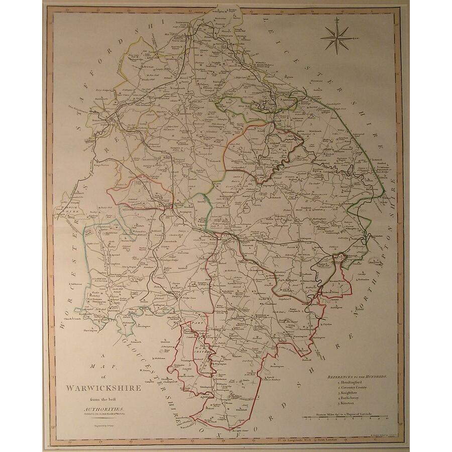A map of warwickshire | Storey's