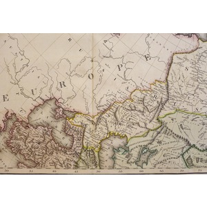 Asia - Original antique copper engraved map with original hand-colouring. Published by Lizars, 1833