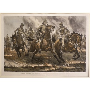 Through the fires: lord dundonalds cavalry charging the enemy over the burning veldt