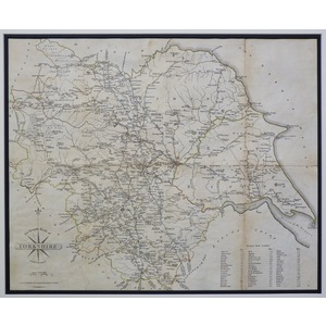 Yorkshire, with the turnpike roads - cary, 1789